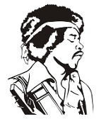 Jimmy Hendrix v2 Decal Sticker