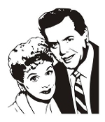 Lucy and Desi Decal Sticker