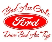 Bad Ass Girls Ford v2 Decal Sticker