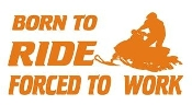 Born to Ride Snowmobile Decal Sticker