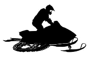 Snowmobile Silhouette v9 Decal Sticker