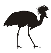 Crowned Crane Silhouette Decal Sticker
