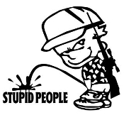 Piss On Stupid People Decal Sticker