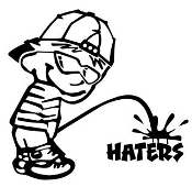 Piss On Haters 2 Decal Sticker