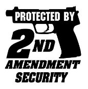 Protected By 2nd Amendment Security Decal Sticker