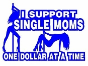 I Support Single Moms v2 Decal Sticker