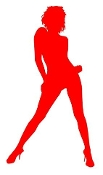 Girl Posing Silhouette 13 Decal Sticker