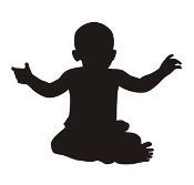 Baby Silhouette v2 Decal Sticker