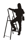Construction Worker Silhouette v1 Decal Sticker