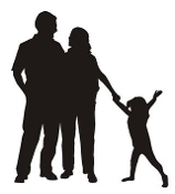 Family Silhouette v4 Decal Sticker