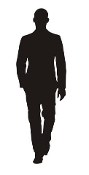 Man Silhouette v1 Decal Sticker