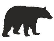 Black Bear Silhouette Decal Sticker