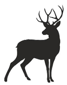 Deer Silhouette 7 Decal Sticker