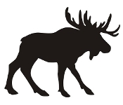 Moose Silhouette v4 Decal Sticker