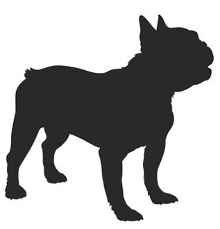 French Bulldog Silhouette Decal Sticker