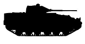 Army Tank Silhouette v5 Decal Sticker