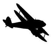 Biplane 1 Decal Sticker