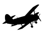 Biplane 2 Decal Sticker