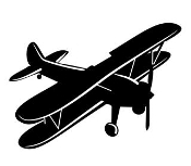 Biplane 3 Decal Sticker