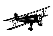 Biplane 4 Decal Sticker