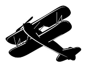 Biplane 5 Decal Sticker