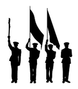 Color Guard Silhouette Decal Sticker