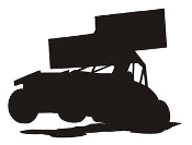 Sprint Car Silhouette v2 Decal Sticker