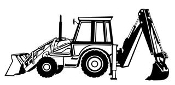 Backhoe v1 Decal Sticker