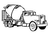 Concrete Truck v3 Decal Sticker