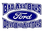 Bad Ass Boys Ford v2 Decal Sticker
