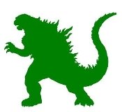 Godzilla Decal Sticker