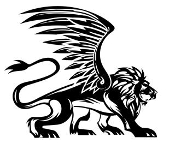 Winged Lion 1 Decal Sticker