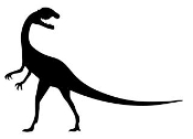 Dinosaur Silhouette 3 Decal Sticker