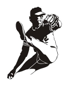 Baseball Pitcher 5 Decal Sticker