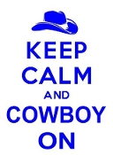 Keep Calm and Cowboy On Decal Sticker