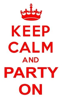 Keep Calm and Party On Decal Sticker