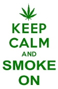 Keep Calm and Smoke On Decal Sticker