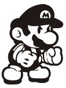 Mario v3 Decal Sticker