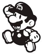 Mario v4 Decal Sticker