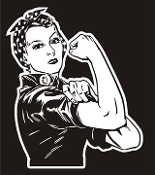 Rosie the Riveter v3 Decal Sticker