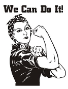 We Can  Do It v2 Decal Sticker