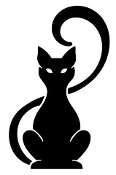 Cat Silhouette v18 Decal Sticker