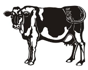 Dairy Cow v2 Decal Sticker