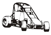 Midget Racecar v2 Decal Sticker