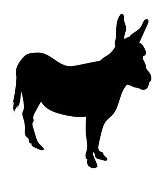 Donkey Silhouette v7 Decal Sticker
