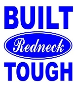 Built Redneck Tough Decal Sticker