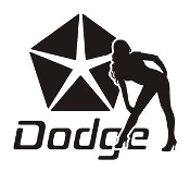 Dodge Girl v10 Decal Sticker