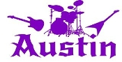 Personalized Name with Instruments Decal Sticker