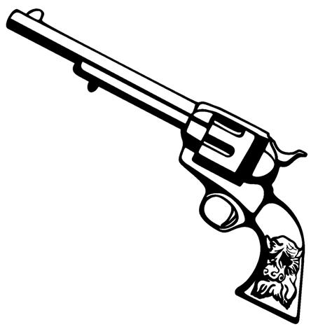 Western Six Shooters Drawing Western Six Shooter Clipart