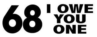 68 I Owe You One Decal Sticker